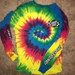 Santa Cruz tie dye shirt